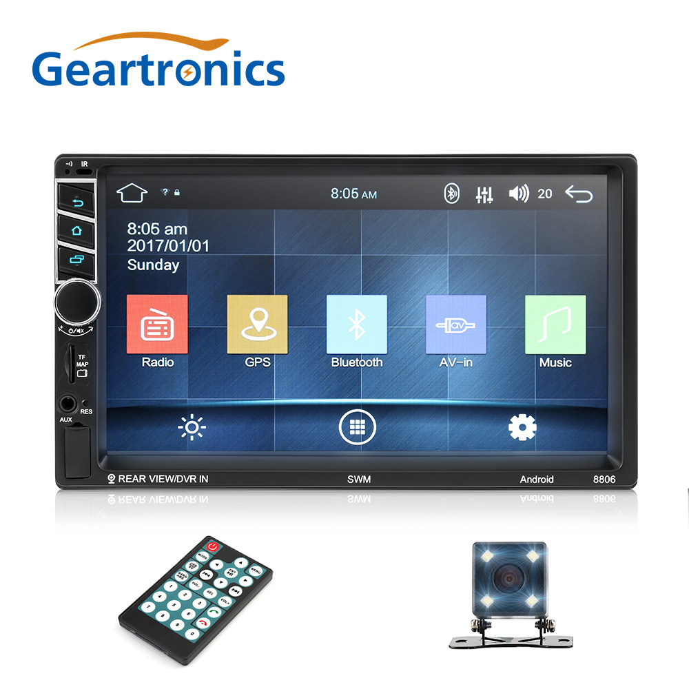 2Din Android 7 1 inch Car Radio font b GPS b font Navigation Quad Core Multimedia