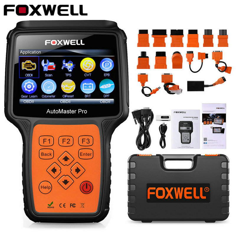 FOXWELL NT644 Pro Full System OBD OBD2 Diagnostic Tool Automotive Scanner ABS SRS Transmission Oil Reset DPF EPB OBD2 Scanner