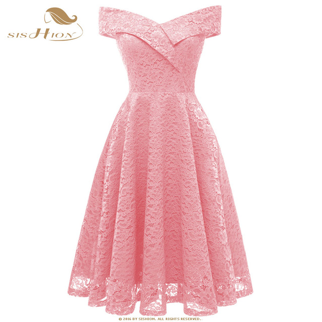fca5130796aff US $26.76 10% OFF|SISHION Royal Blue Wine Red Black Pink Dress Sleeveless  Fashion Party Princess Slim Casual Beach Summer Sexy Lace Dresses VD0714-in  ...
