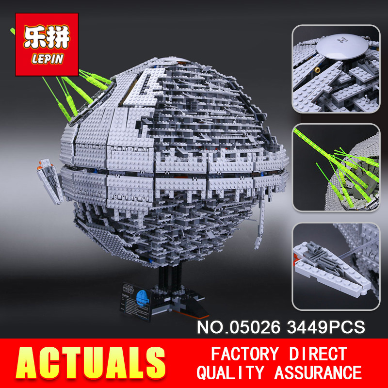 LEPIN 05026 Star Children Gifts Wars 3449Pcs Death The second generation Star Building Block Bricks Toys Compatible with 10143 anniversary of the second republic zaire gifts