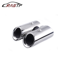 RASTP-Chrome Stainless Steel Exhaust Pipe Tail Muffler Tip Fit for 2019 Porsche Macan Car Modification RS-CR2029