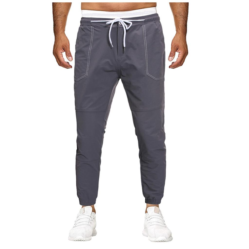 Mens Breathable Jogging Pants Men Fitness Joggers Running Pants Pocket Training Sport Pants For Running Tennis Soccer Play  6.25