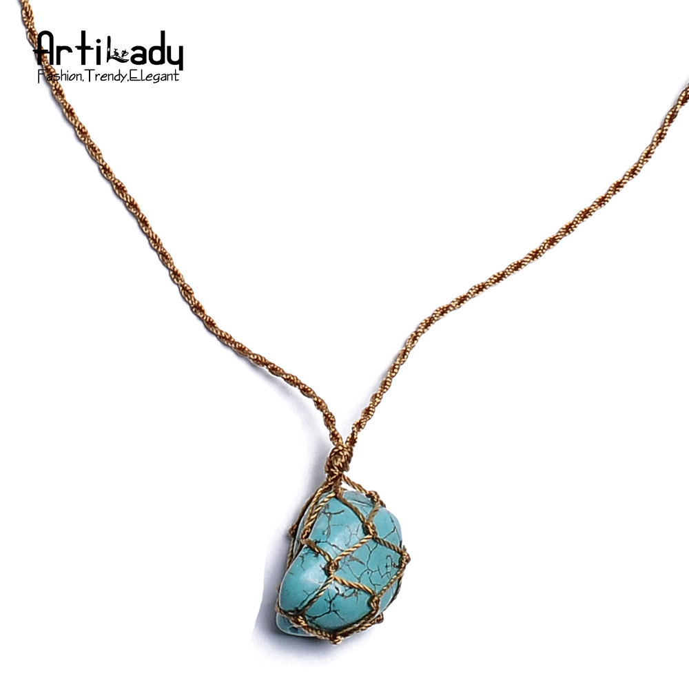Buy artilady natural stone necklace for Buying jewelry on aliexpress