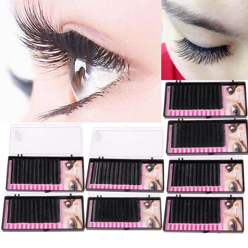 5917c65da9f Black Fake False Faux Individual Tray Lash B C D J Curl 0.07mm Eyelash  Extension