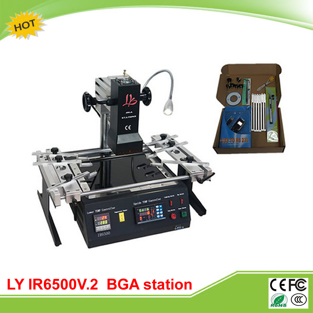 LY IR6500 V.2 infrared BGA rework station bigger preheat area 240*200mm free tax to RU shuttle star sp380iitouch screen hot air bga rework station sp 380ii free tax to russia