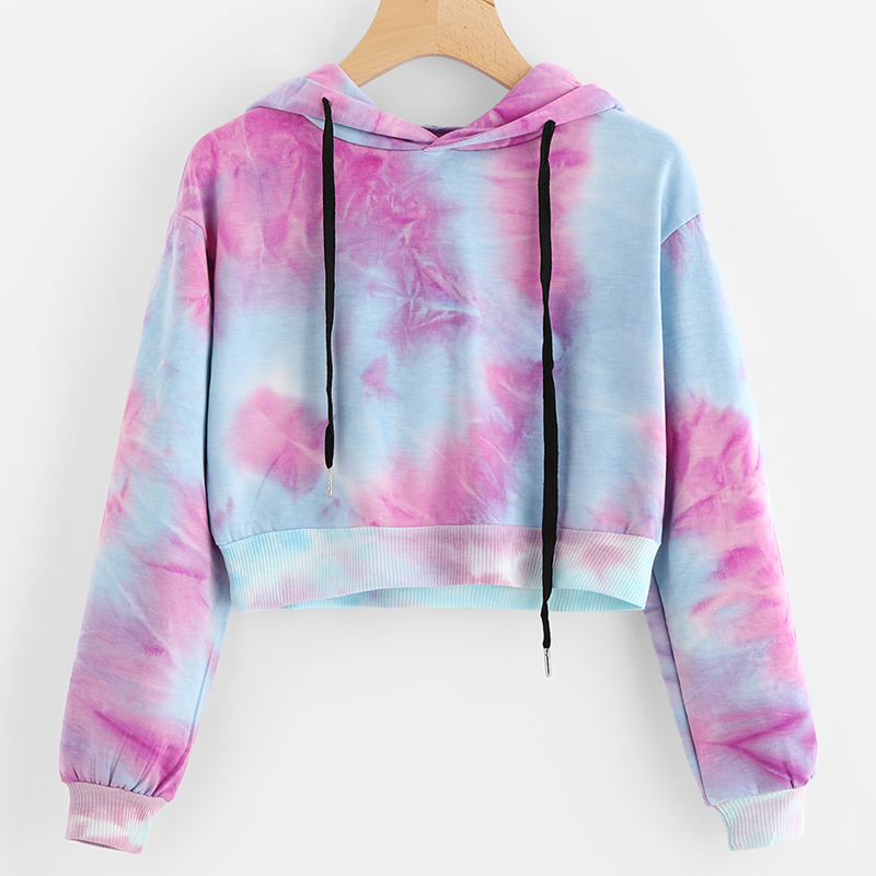 Bigsweety Colorful Print Sweatshirts Women Hit Color Hoodies Fashion Brand Hiphop Short Hoodie Women Autumn Crop Tops Streetwear Women's Clothing