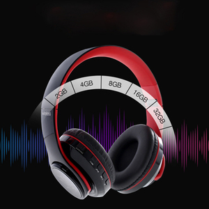 Image 4 - Earphone bluetooth 4.1 wireless HIFI  Seven color LED over ear headset waterproof with microphone headphones auricolari headset