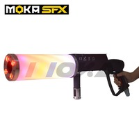 Moka LED Co2 Gun DJ Stage Co2 Jet Machine Colorful Co2 Fog Spray Cannon Machine Disco Party Effect Equipment RGB Handhold Jet