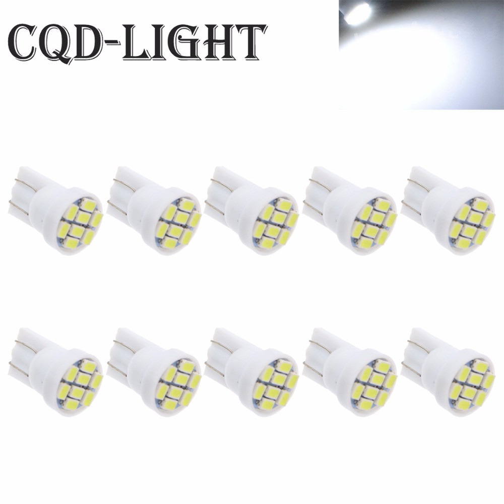 CQD-Light 10PCS white 1206/3020 smd T10 8 smd 8smd 8led led 194 168 192 W5W super bright Auto led car lighting wedge super bright white t10 w5w 50w 10 smd drl led bulb car auto wedge reverse signal light lamp 194 168 hot selling