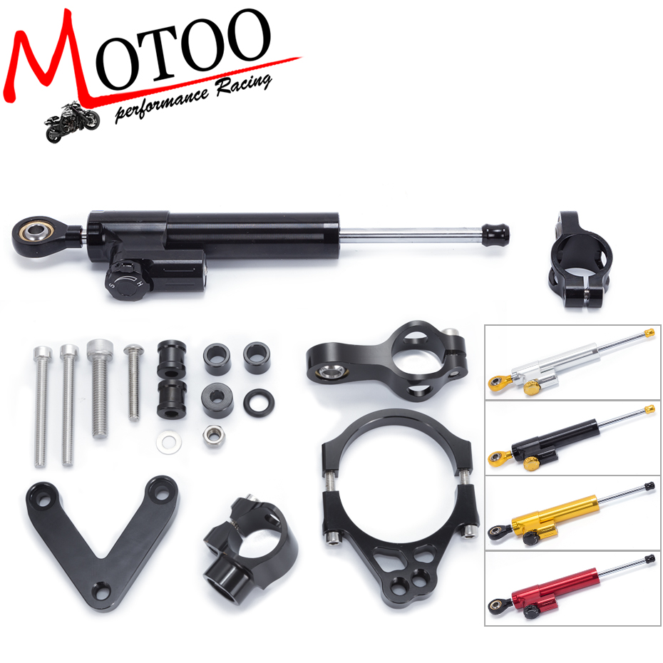Motoo -FREE SHIPPING For DUCATI 848 2008 2009 2010 Motorcycle Aluminium Steering Stabilizer Damper Mounting Bracket Kit fxcnc aluminum motorcycle steering stabilizer damper mounting bracket support kit for yamaha fz1 fazer 2006 2015 2007 2008 09