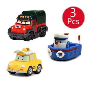Image 2 - Robocar Poli enfants jouets corée enfants jouets métal voiture modèle Robot Poli Roy Haley Anime figurine jouets voiture pour enfants jouets