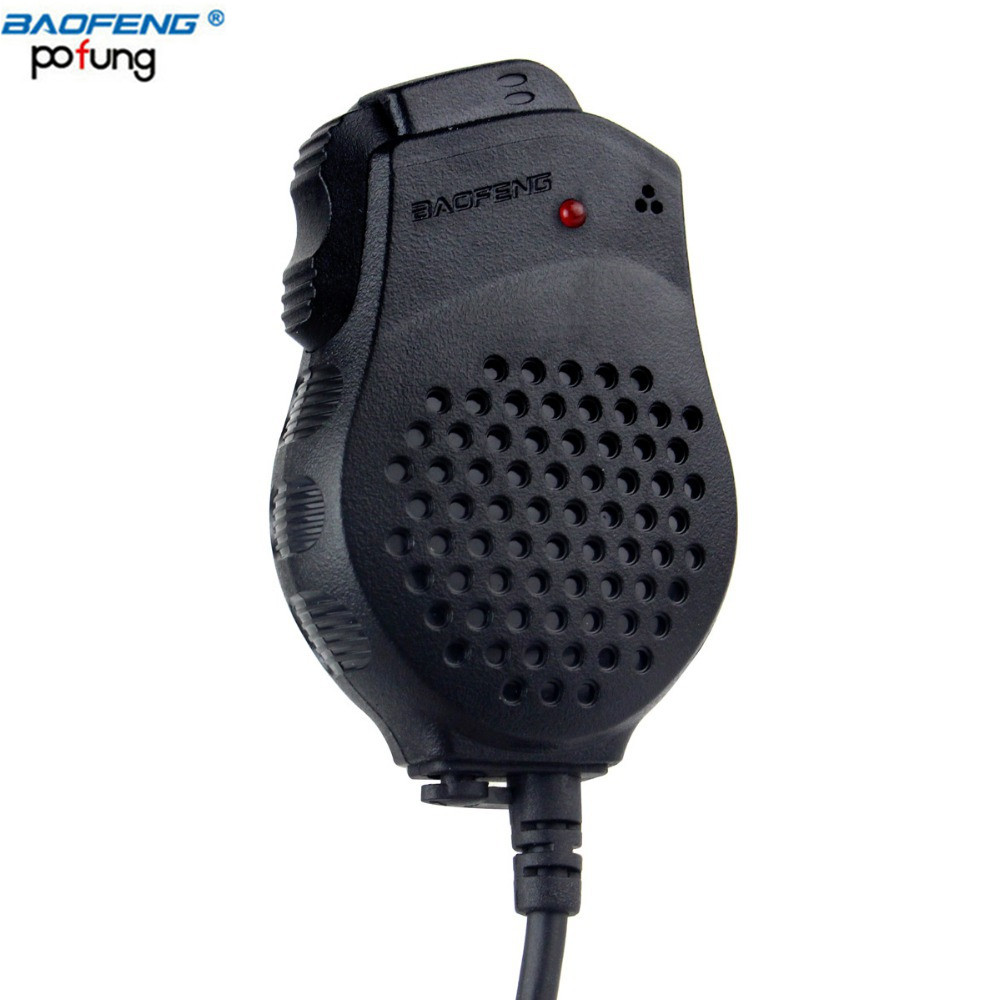 Baofeng Speaker Mic Microphone Dual PTT For Baofeng Two Way Radio UV-82 UV-82L UV-8D UV-89 UV-82HP Series Portable Radio