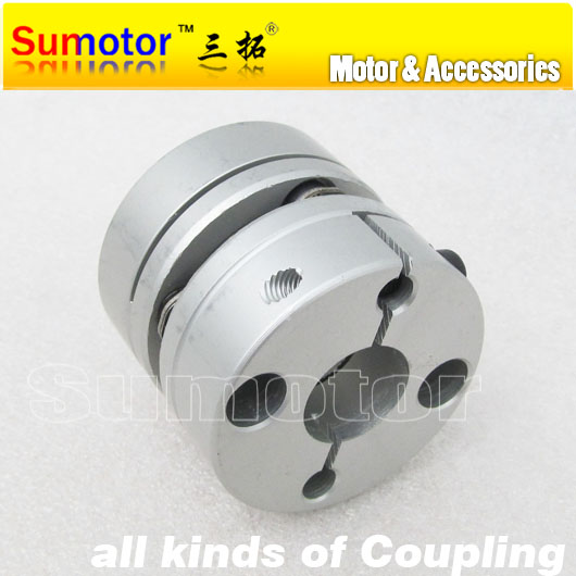 CNC OD 40mm L 35mm, Bore to 8mm 10mm 12mm 12.7mm 14mm 15mm 16mm 18mm, for servo motor stepper motor flexible diaphragm Coupling  new flexible aluminum alloys double diaphragm coupling for servo and stepper motor couplings d 44 l 50 d1 and d2 are 8 to 20 mm