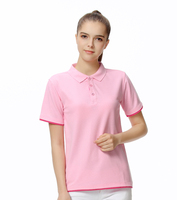 New Brand Polo Shirt Women short Sleeve Solid Slim Polos Mujer Shirts Tops Fashion Plus Size Polo Femme accept custom logo print