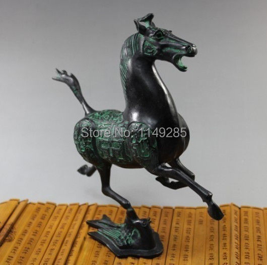 christmas Home Decor Metal Crafts Oriental Vintage China bronze statue horse fly swallow Figures halloween