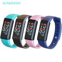 Heart Rate Smart Wristband Band Blood Pressure Monitor Pedometer Fitness Bracelet Color LCD for Samsung Galaxy J7 J5 J3 J1 J700F