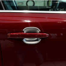 4pcs Chrome/Black Exterior Door Bowl Cover Trim For Jaguar F-Pace X761 2016 Car Styling Modified риордан р магнус чейз и боги асгарда книга 1 меч лета