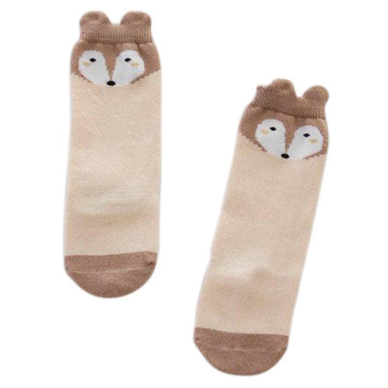 Beauty 1 Pair Newborn 0-4Years Kids Girl Boy Animal Pattern Anti-slip Knee High Baby Socks
