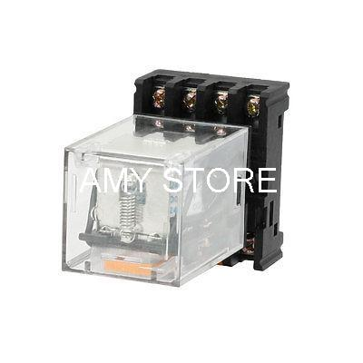 Подробнее о MK2P-I 24VDC Coil DPDT 8-Pin General Purpose Power Relay w PF083A Base free shipping ac 380v coil dpdt 8 pin red led light lamp general purpose power relay