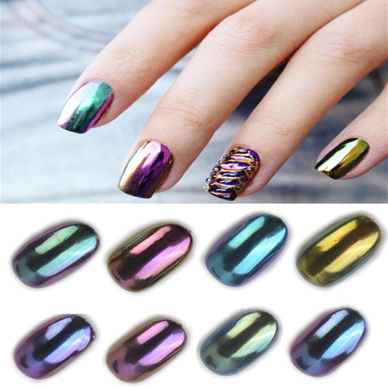 Chrome Nail Colors: 1g Born Pretty Shinning Mirror Chameleon Powder Nail