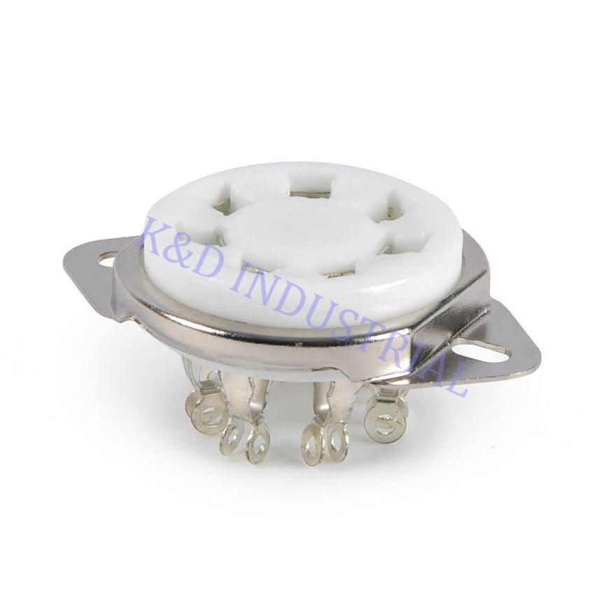 Pcs Mini 7pin Soquete do Tubo de Vácuo de Cerâmica 2A7 2 6A7 PCB Base de válvula Amp Peças Para Guitarra