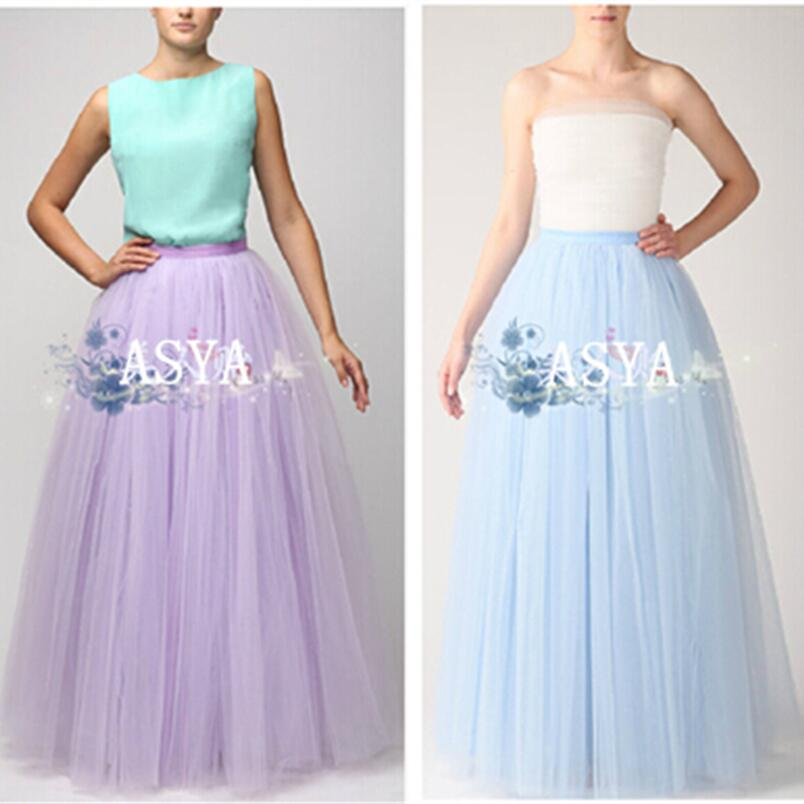 New Autumn 2019 Women Lace Tulle Skirt High Waist Floor Length Lace Plus Size M-XXL Female Tutu Skirts Long Maxi Skirt Female