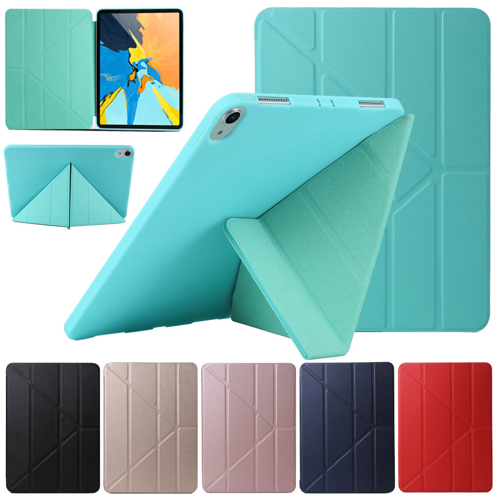 Multi-fold Tablet Case For iPad Pro 11 2018 PU Leather Transformers Stand Cover Smart Case Auto Sleep Wake For iPad Pro 11 inchMulti-fold Tablet Case For iPad Pro 11 2018 PU Leather Transformers Stand Cover Smart Case Auto Sleep Wake For iPad Pro 11 inch