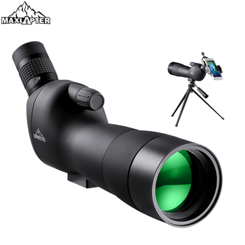 MAXLAPTER Spotting Scope with Tripod 20-60x Zoom for Birdwatching Telescope Hunting Monocular Waterproof Safari  Phone Adapters spotting scope