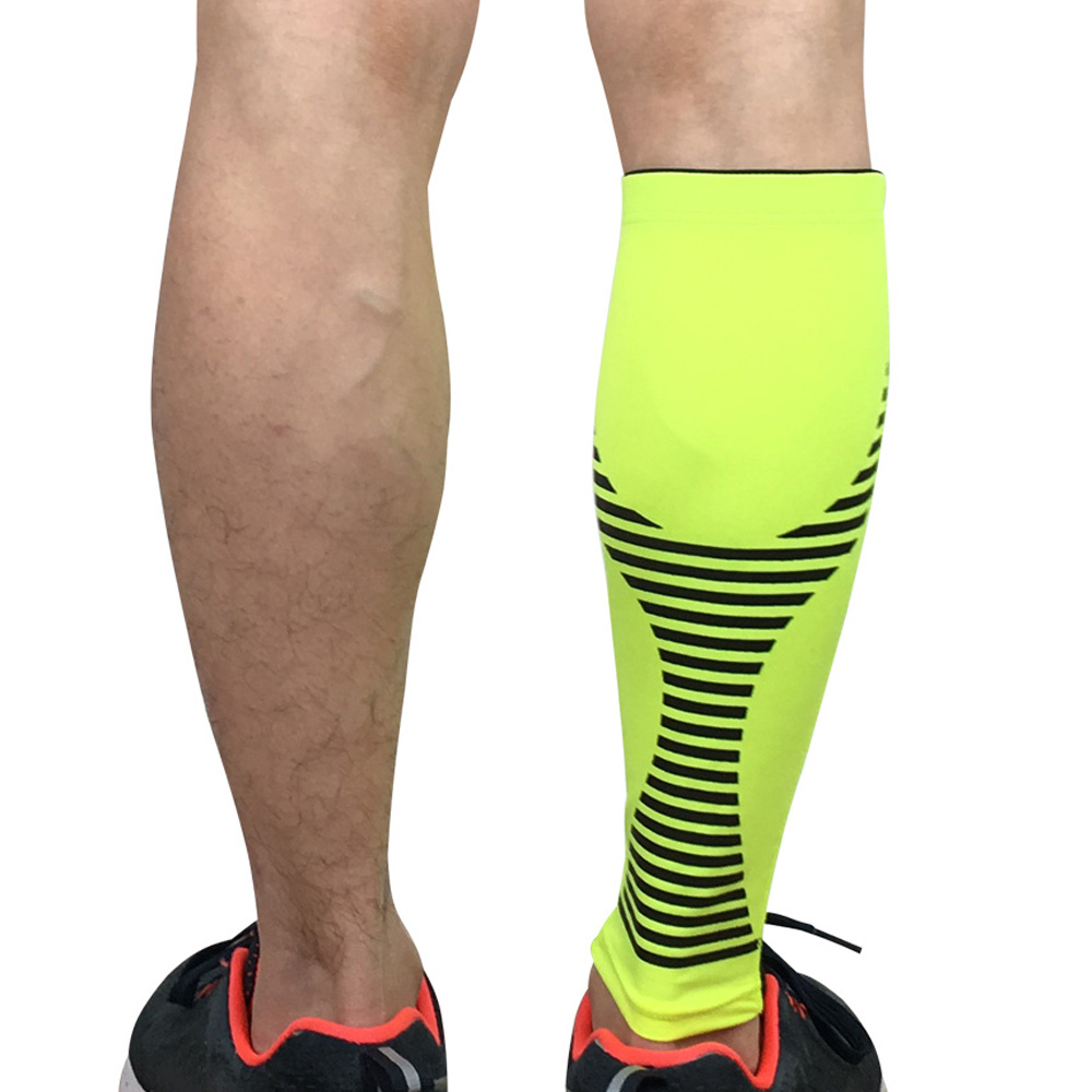 Sport Protection Leg Sleeve Calf Brace Support Sports Protective Gear Striped SPSLF0045