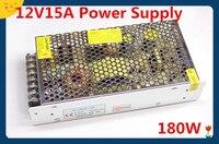 CE Approved Free Shipping 12V15A 180W Switching Power Supply Adapter LED Strip Light Tranformer 12V AC110V