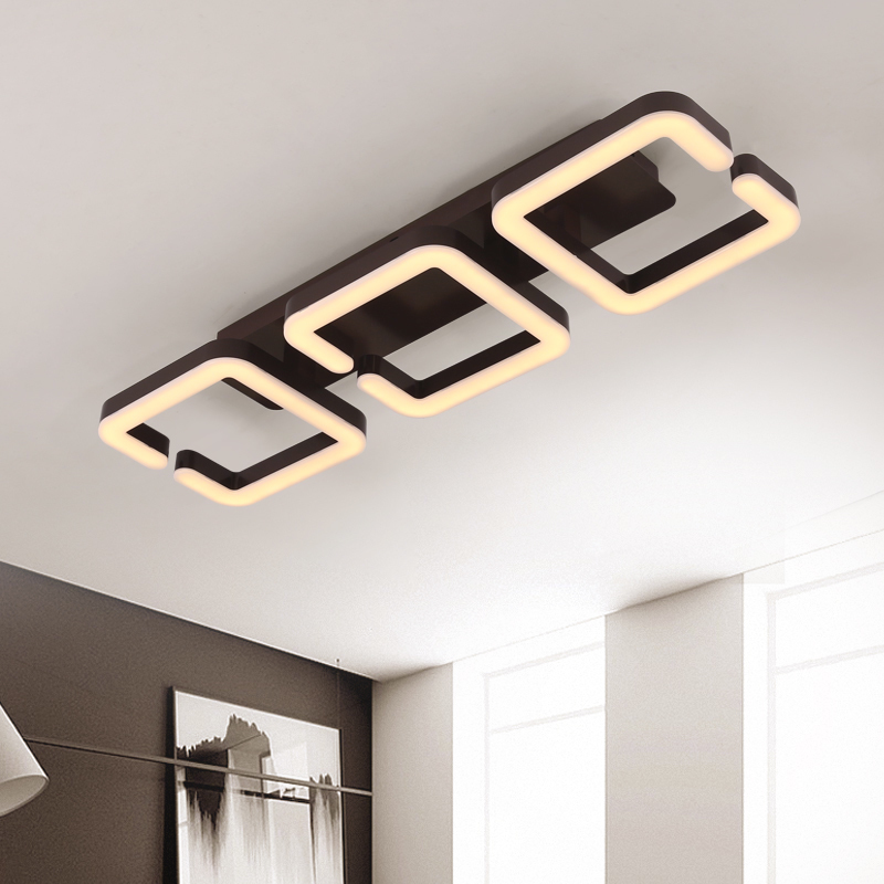 Brown Modern Led Ceiling Chandelier Lamp Lampara de techo Chandelier Lighting For Living Room Bedroom lustre