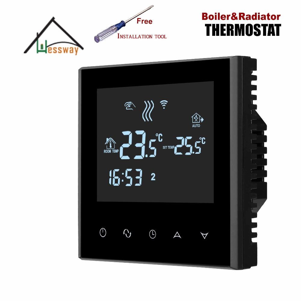 EU programmable thermostat thermostatic radiator valve for Linkage Controller Passive contact eu radiator thermostat wifi boiler dry contac linkage controller for underfloor warm system