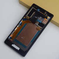 For Sony Xperia M2 Aqua D2403 D2406 4G / LTE LCD Display Monitor Panel Module + Touch Screen Digitizer Sensor Assembly Frame