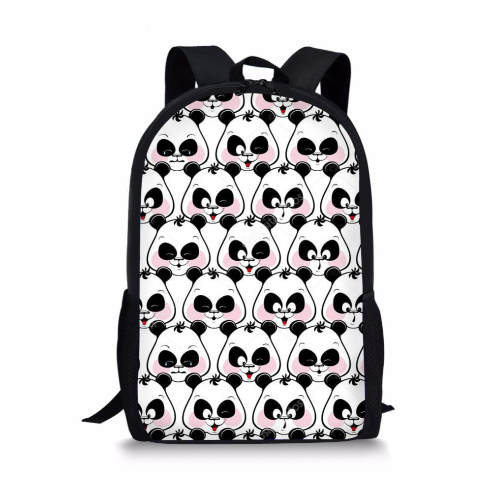 2b62f47fad8f Noisydesigns забавные Eomji Головоломка «панда» рюкзак с принтом Mochila  Necessaire школьная сумка для подростков