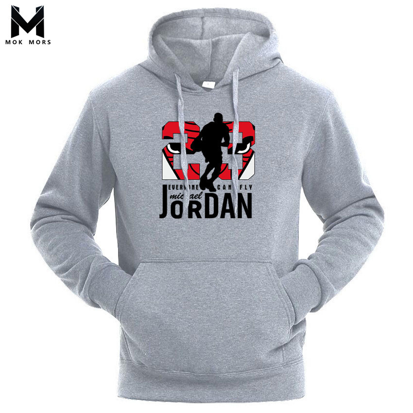 Hooded Clothing Pullover 23-Printed sportswear Men Sweatshirt High-Jordan Hip-Hop Autumn