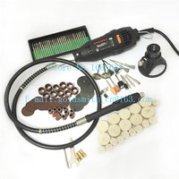 Mini Dremel electric drill grinder kit jewelry Tools for Rotary Tool Include Chuck Collect Sanding Bands Cutting Discs