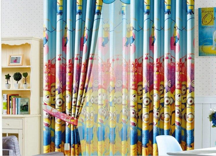 Blackout curtain kids despicable me windows Curtains kids cartoon Minions curtain for boy girl bedroom customized 90x260cm AA7