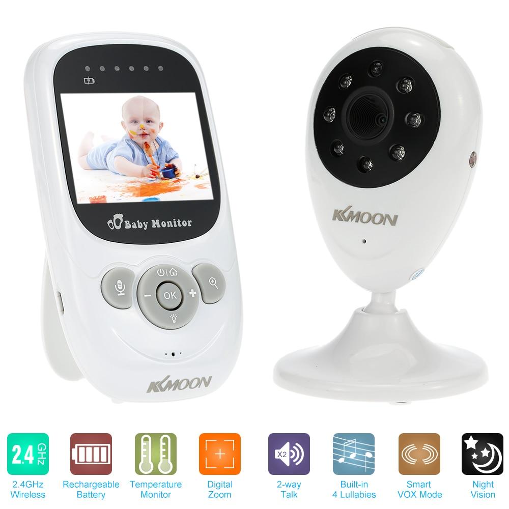 """bilder für Drahtlose 2,4 """"LCD Farbe Babyphone Video Kindermädchen Mini Überwachungskamera Zwei-wege-gespräch Nachtsicht Temperaturüberwachung"""