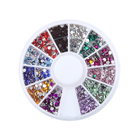 12 Colors 3d Nail Decorations Steering-wheel Acrylic Diamond Shapes 2mm Rhinestones Nail Art Accessories