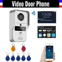 720P HD Smart Wifi Wireless Video Doorbell 5PCS RFID Keyfobs Remote Intercom Unlock IP Video Door Phone for iOS Android Phone PC