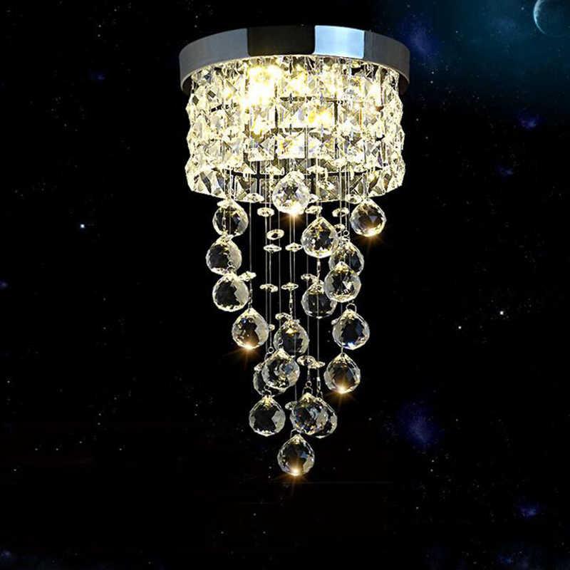 جديد الحديثة Led كريستال الثريا إضاءة مصباح السقف للمطبخ الحمام صغير حجرة نوم الديكور مصباح 20 سنتيمتر قطر Aliexpress
