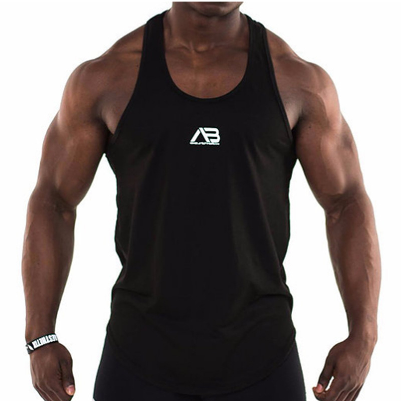 Summer New   Tank     Top   Men 2018 Brand Male Solid Color Sleeveless Vest Clothing Bodybuilding   Top     Tank   Mens Jersey Plus Size M-XXL