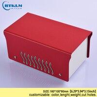 Demir muhafaza elektrik kutusu için DIY diy kutusu elektronik güç kaynağı muhafaza demir bağlantı kutusu diy enstrüman kutusu 160 * 100*80mm|Tel Bağlantı Kutuları|   -