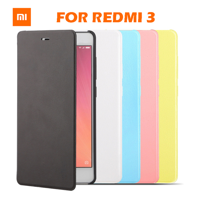 best service b8f59 c6449 US $11.99 |IN STOCK 100% Original Flip Case cover for Xiaomi Redmi 3  protector case flip sabic matte leather cover for xiaomi redmi 3-in Flip  Cases ...