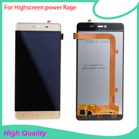 For Highscreen Power Rage Original Lcd Screen Display Touch Panel Digitizer Assembly Repalcement Parts