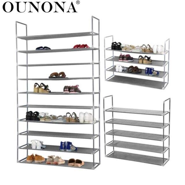 Etonnant OUNONA 50 Pair 10 Tier Space Saving Storage Organizer Free Standing Shoe  Tower Rack
