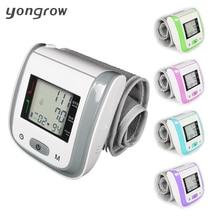 Yongrow tonómetro de muñeca digital automático monitor de presión arterial digital lcd sphgmomanometer de la tasa de pulse meter 2016