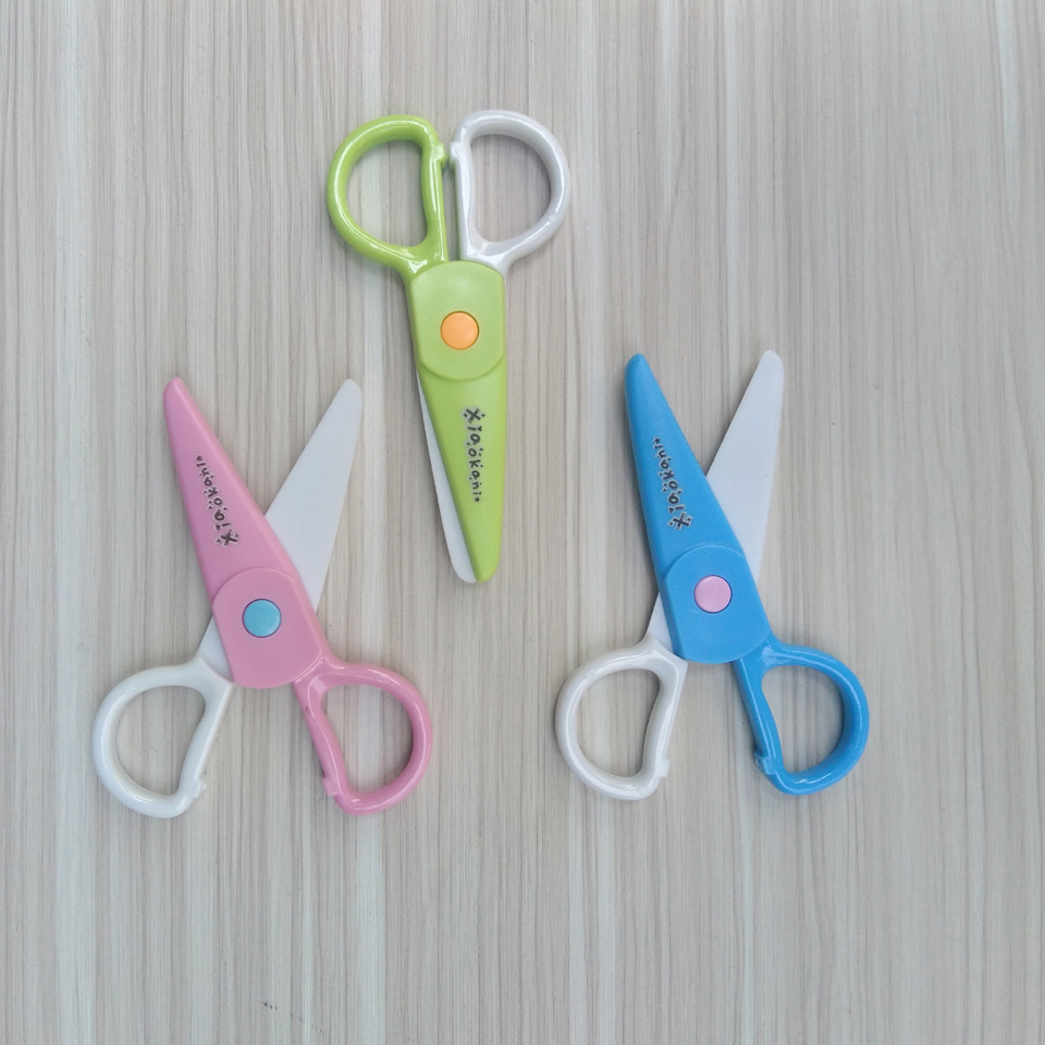 2pcs/Lot Children's Safety Sissors To Prevent Hand Injuries Student Scissors DIY Photo Plastic Paper Cutting  Paper Scissors