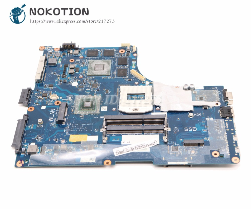 NOKOTION Laptop Motherboard For Lenovo ideapad Y510P 15.6 MAIN BOARD VIQY1 NM-A032 REV 1.0 GT755M 2GB Video card 1920*1080NOKOTION Laptop Motherboard For Lenovo ideapad Y510P 15.6 MAIN BOARD VIQY1 NM-A032 REV 1.0 GT755M 2GB Video card 1920*1080