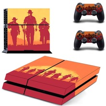 Game Red Dead Redemption 2 PS4 Skin Sticker Decal Vinyl for Sony Playstation 4 Console and 2 Controllers PS4 Skin Sticker